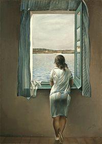 Savatore Dali 1925: Woman at the Window
